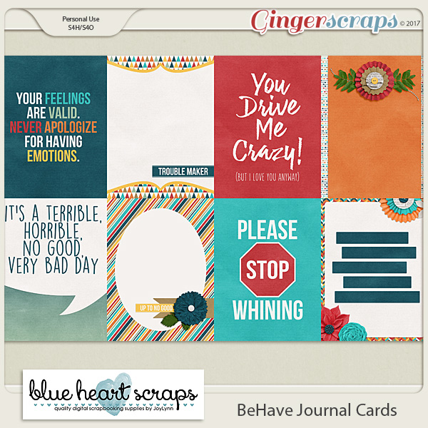 BeHave Journal Cards