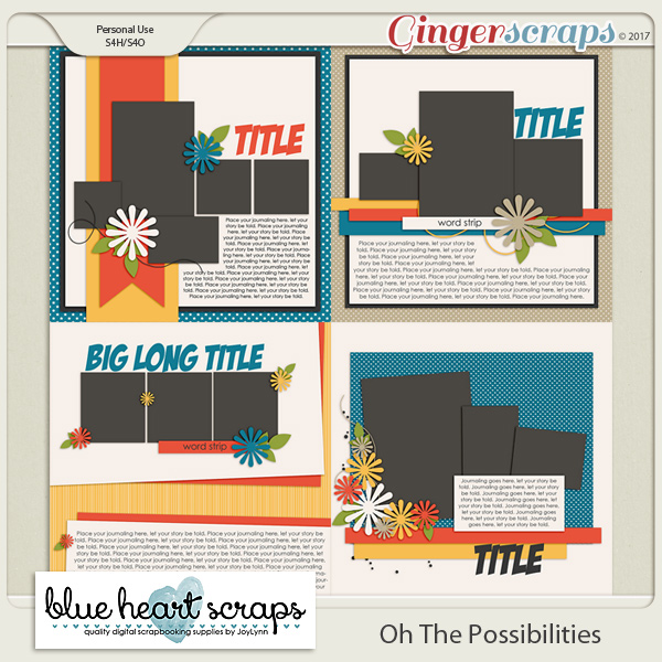 Oh The Possibilities Template Pack