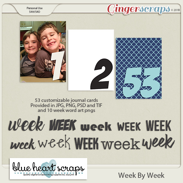 Week By Week Journal Card Pack