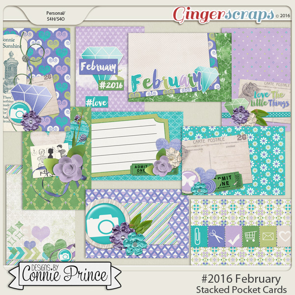 #2016 February - Stacked Pocket Cards