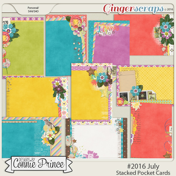 #2016 July - Stacked Pocket Cards