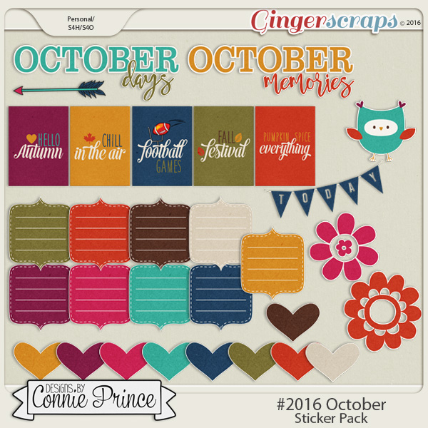 #2016 October - Sticker Pack