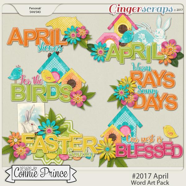 #2017 April - Word Art Pack