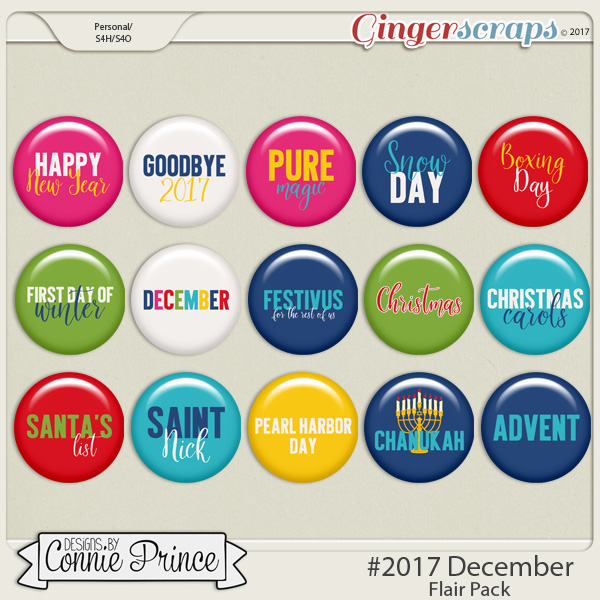 #2017 December - Flair Pack by Connie Prince