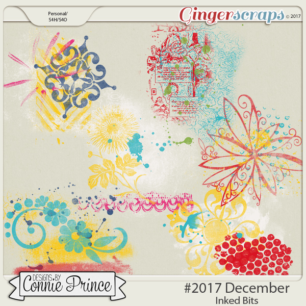 #2017 December - Inked Bits by Connie Prince
