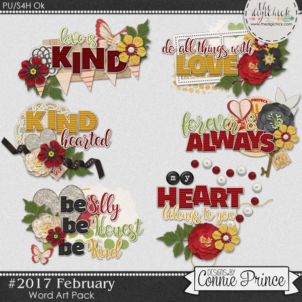 #2017 February - Word Art Pack