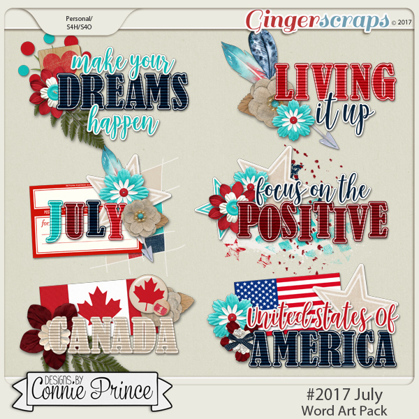#2017 July - Word Art Pack