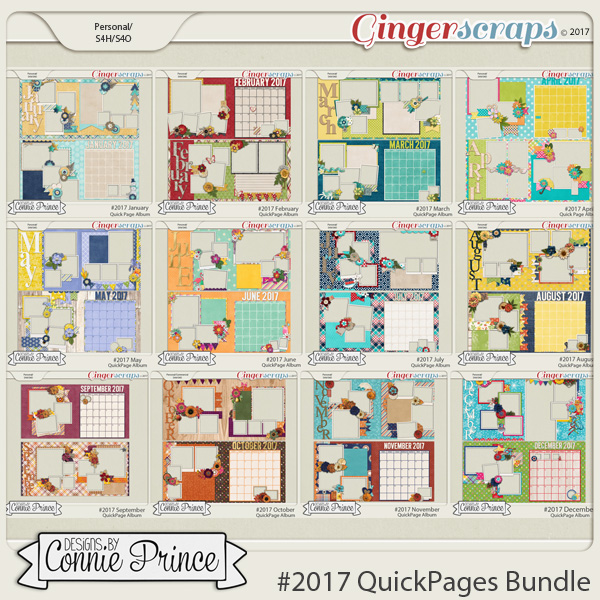 #2017 Quick Pages Bundle by Connie Prince