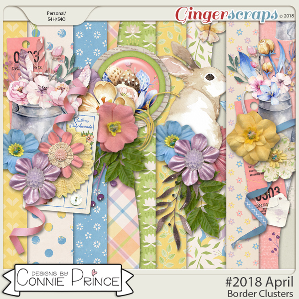 #2018 April - Border Clusters by Connie Prince