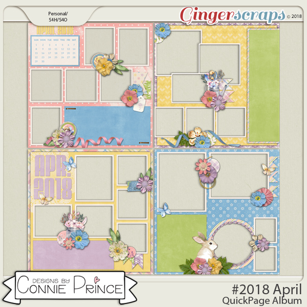 #2018 April - Quick Pages by Connie Prince