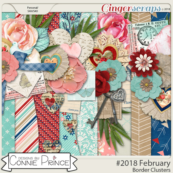#2018 February - Border Clusters by Connie Prince