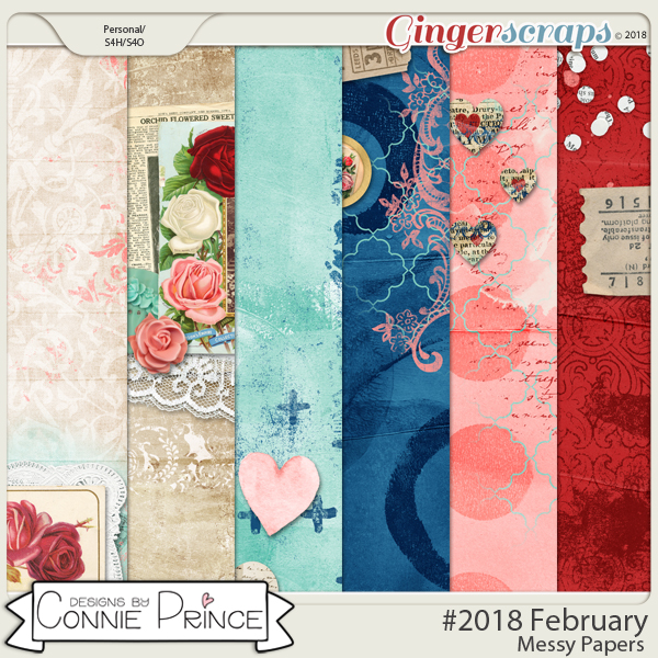 #2018 February - Messy Papers by Connie Prince