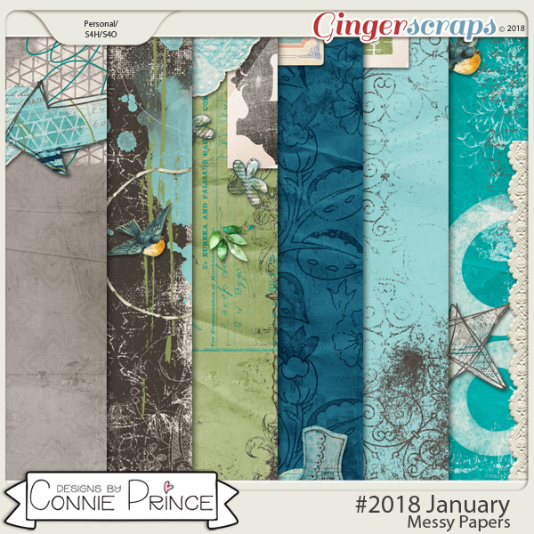 #2018 January - Messy Papers by Connie Prince
