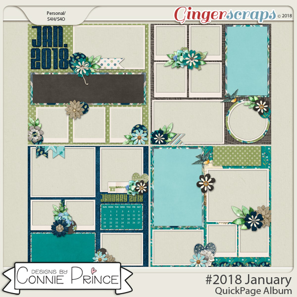 #2018 January - Quick Pages by Connie Prince