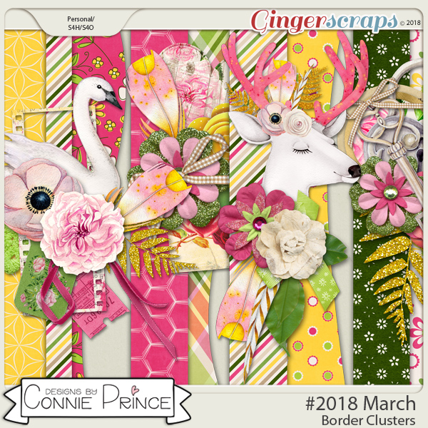 #2018 March - Border Clusters by Connie Prince