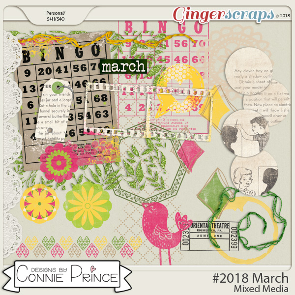 #2018 March - Mixed Media by Connie Prince