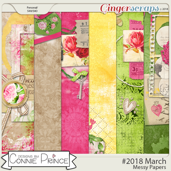 #2018 March - Messy Papers by Connie Prince