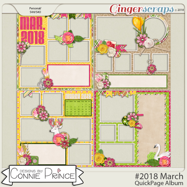 #2018 March - Quick Pages by Connie Prince