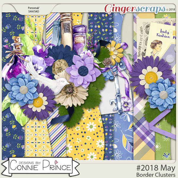 #2018 May - Border Clusters by Connie Prince