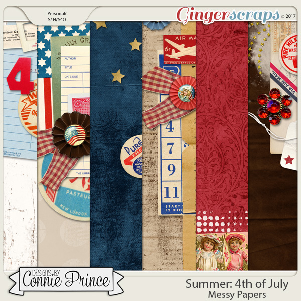 4th Of July - Messy Papers