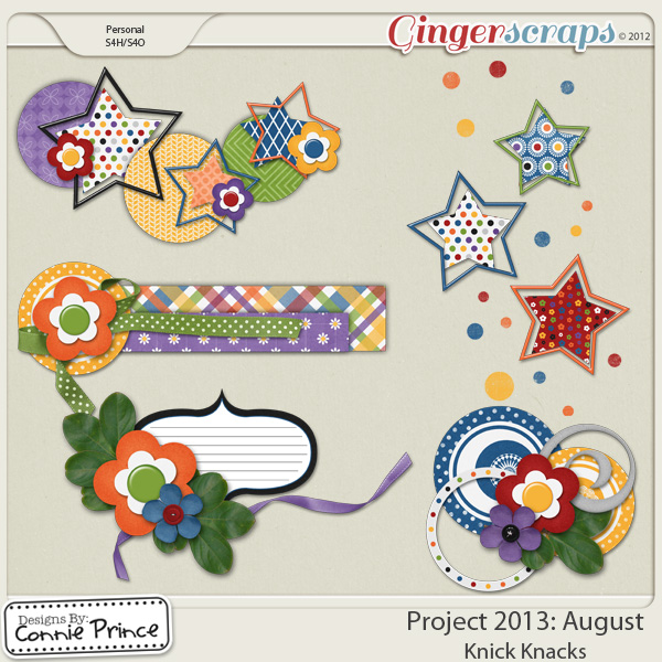 Project 2013:  August - Knick Knacks