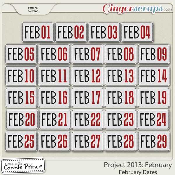 Project 2013: February - Dates
