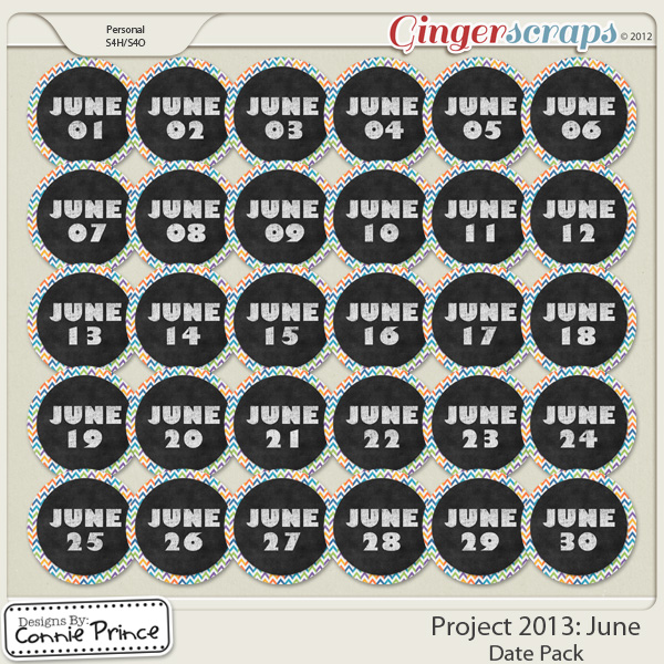 Project 2013:  June - Dates