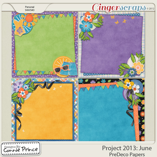Project 2013:  June - PreDeco Papers