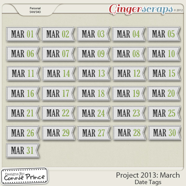 Project 2013: March - Dates
