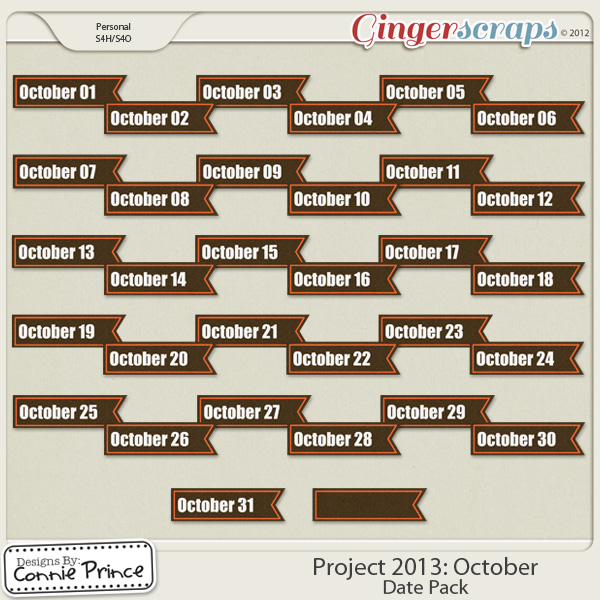 Project 2013:  October - Dates