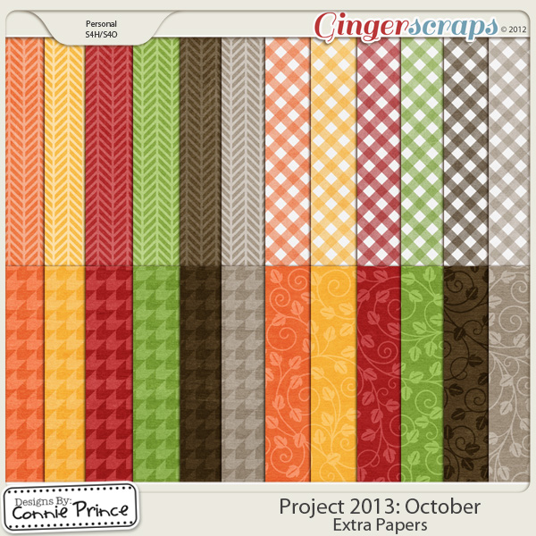 Project 2013:  October - Extra Papers