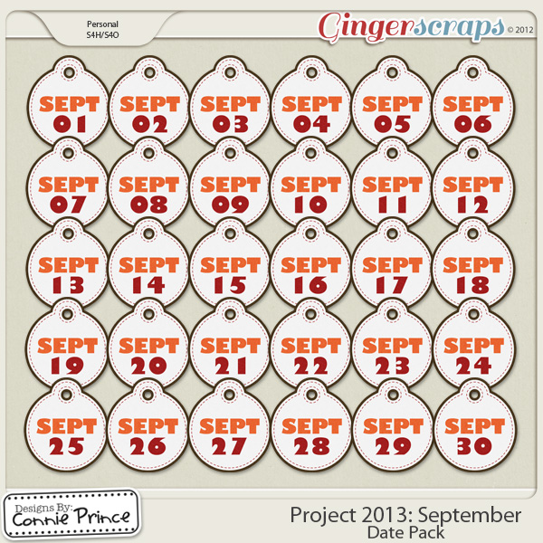 Project 2013:  September - Dates
