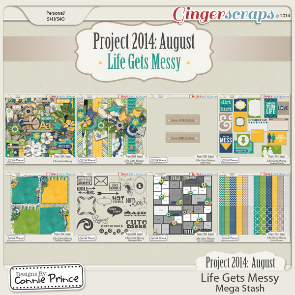 Project 2014 August: Life Gets Messy - Mega Stash
