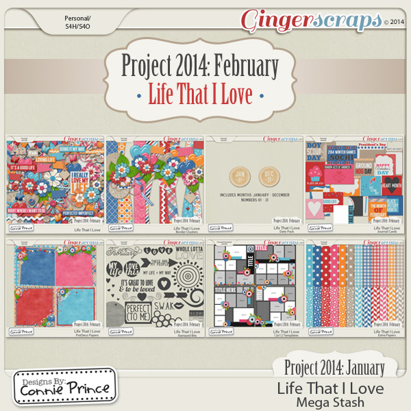 Project 2014 February:  Life That I Love - Mega Stash