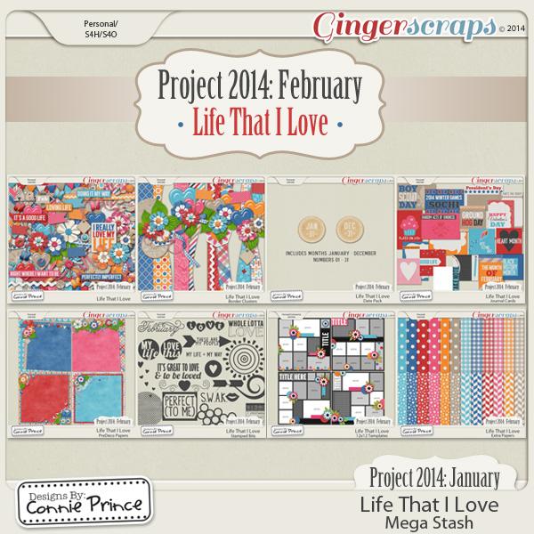 Project 2014 February:  Life That I Love - Mega Stash