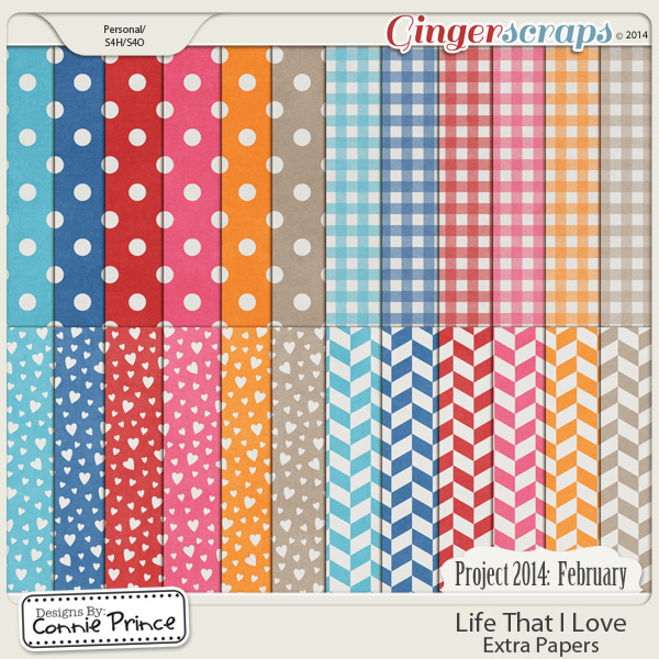 Project 2014 February:  Life That I Love - Extra Papers