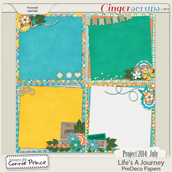 Project 2014 July: Life's A Journey - PreDeco Papers