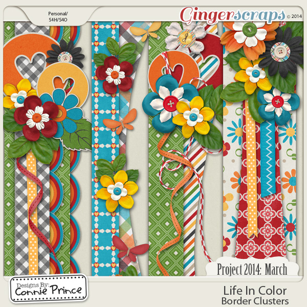Project 2014 March: Life In Color - Border Clusters
