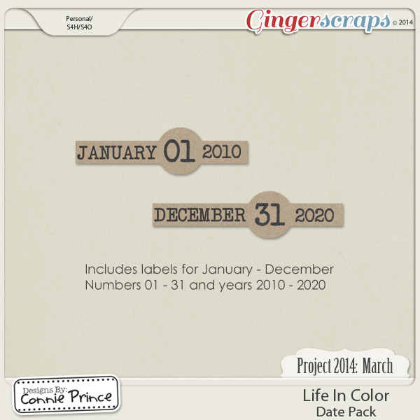 Project 2014 March: Life In Color - Dates