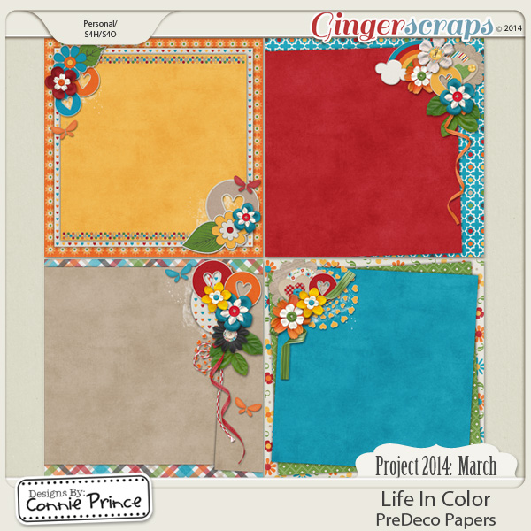 Project 2014  March: Life In Color - PreDeco Papers