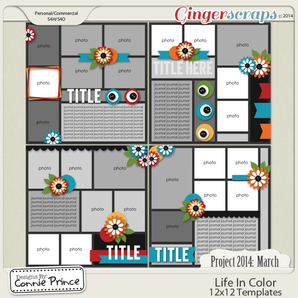 Retiring Soon - Project 2014 March: Life In Color - 12x12 Temps (CU Ok)