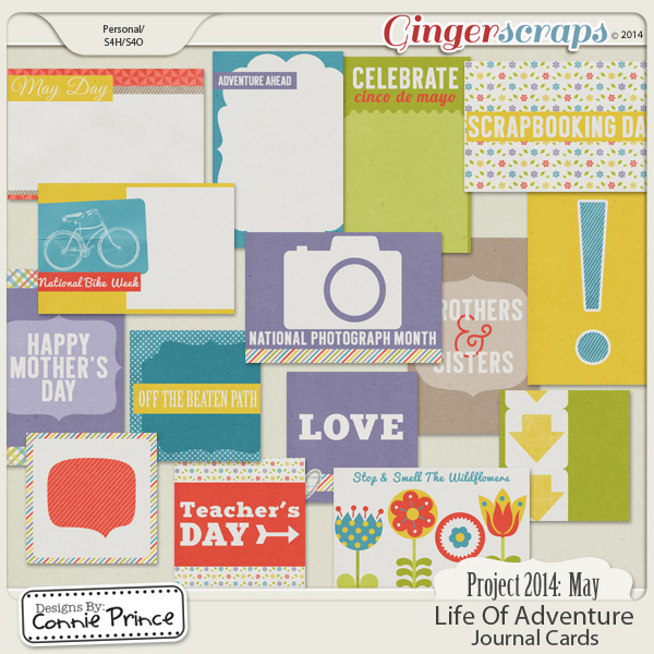 Project 2014 May:  Life Of Adventure - Journal Cards