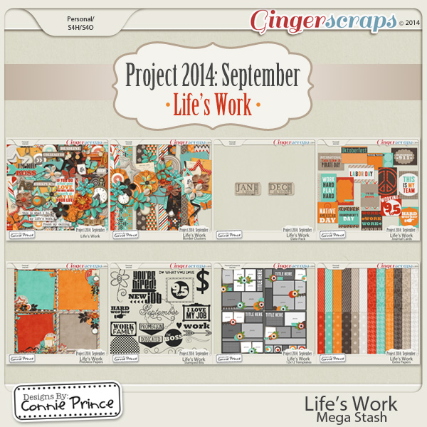 Project 2014 September:  Life's Work- Mega Stash