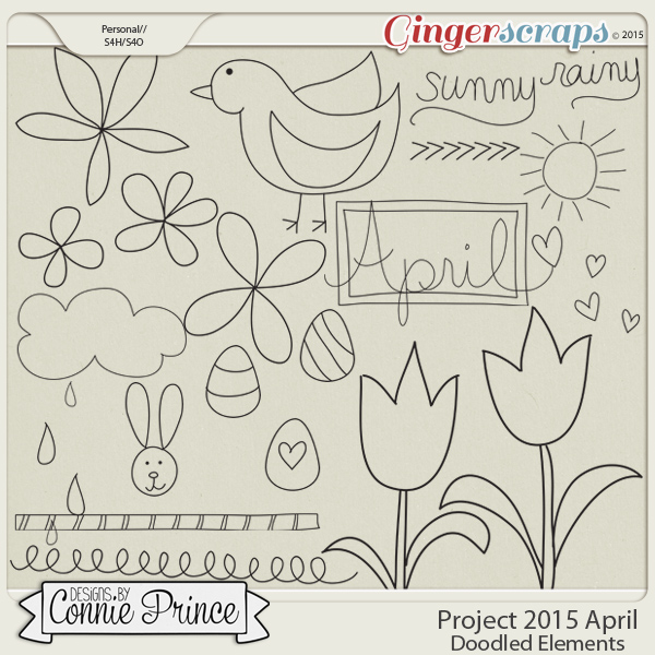Project 2015 April - Doodled Elements
