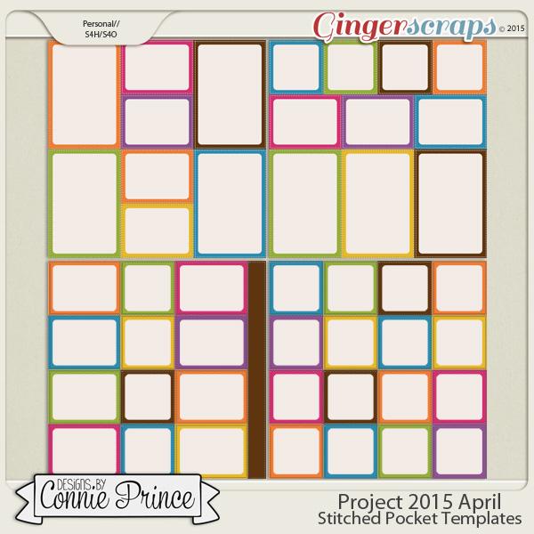Project 2015 April - Stitched Pocket Templates
