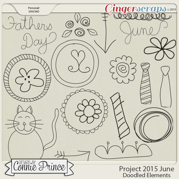 Project 2015 June - Doodled Elements