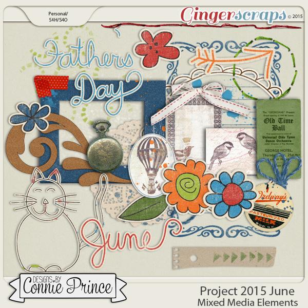 Project 2015 June - Mixed Media Elements