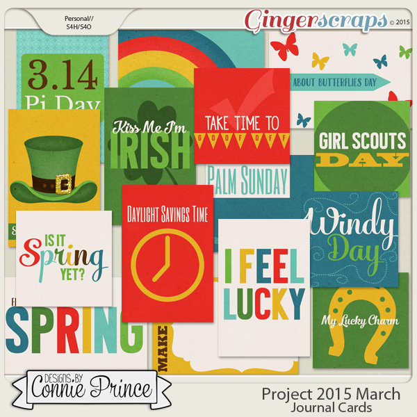 Project 2015 March - Journal Cards