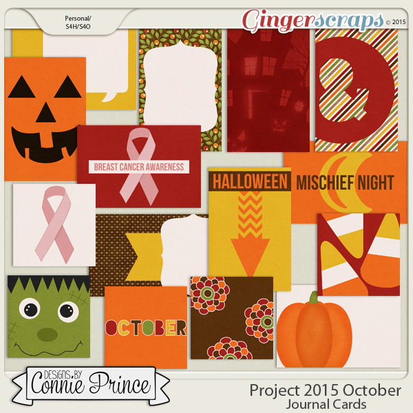 Project 2015 October - Journal Cards