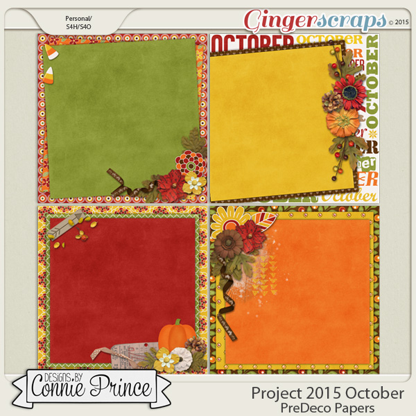 Project 2015 October - PreDeco Papers